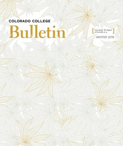 Winter 2019 Bulletin cover: illustration of hemp leaves