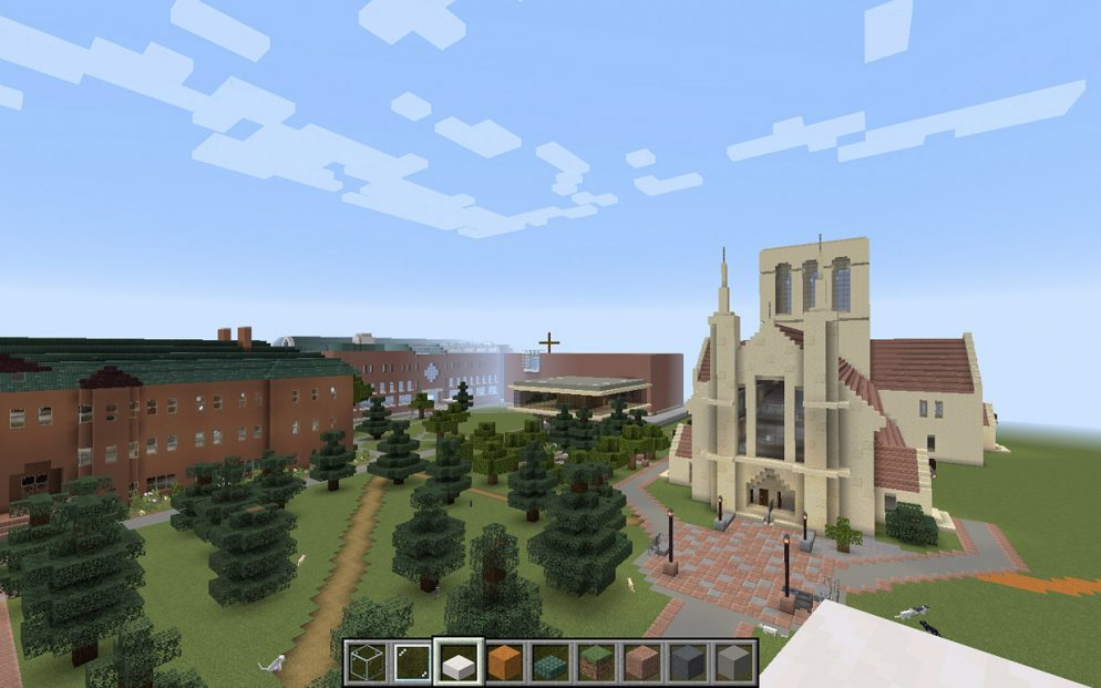 Screenshot of the Minecraft CC campus