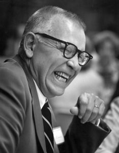 """President Lloyd E. """"Lew"""" Worner."""