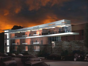 fitness center rendering