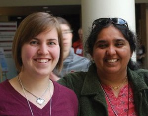 Stephanie Furness '09 (left) and Associate Professor Neena Grover