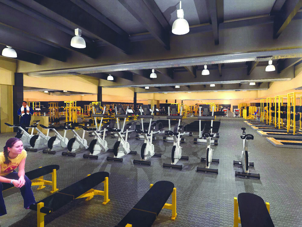 New fitness center creates community bulletin for How much is it to build a basketball gym