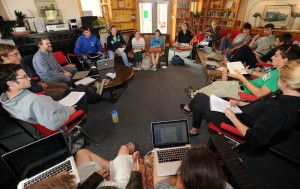 Dennis McEnnerney's Freedom and Authority class at Baca. Photo by Kirk Speer.