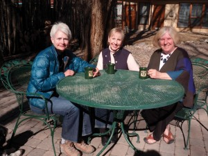 Class of '74 classmates Frances Reynolds, Marcia Brenner Winter, and Prudy Hawthorne Abeln gathered for coffee at the Dreamcatcher B&B in Taos, N.M., where they all live. Marcia recently retired from running her travel business. Frances recently retired from the U.S. Forest Service. And Prudy and her husband escaped corporate life to run a bed & breakfast. They found out there are more than 80 CC alumni living in Northern New Mexico!