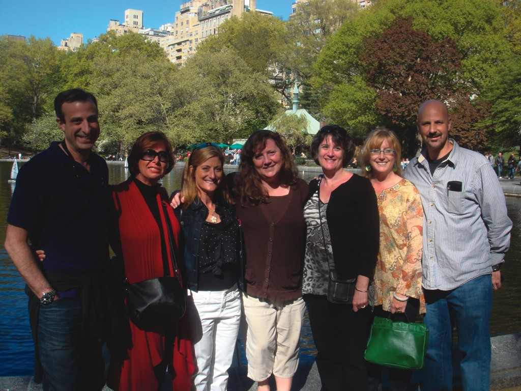 A mini-reunion took place May 4 in New York City's  Central Park. Members of the Class of '87 who attended were, left to right, Michael  Borchetta, Melinda Rees, Lisa Joline Fletcher, Jayni Philipp Reinhard, Ann  Deines Honious, Juli Gammon, and Michael  Weisselberg. This group all lived in Bemis and MacGregor Halls  their freshman year. The friends spent a few days together in New York City,  where they walked the Highline, visited Central Park, and went on other  sightseeing adventures.