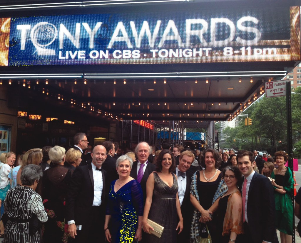 "Nancy  Nagel Gibbs '71 (second from left in the blue dress) and Nina  Essman '87 (second from right in black dress) attended the 2012  Tony Awards ceremony together.  Nancy is currently producing the critically  acclaimed play, ""Peter and the Starcatcher,"" which opened on Broadway in April  2012. The first national tour of the play launched at the Ellie Caulkins Opera  House in Denver in August. Nina is the general manager for both the New York  and touring productions. Nina and Nancy attended CC at different times, and met  at work in 1992. They later formed their own company and have been working  together in commercial theater in New York City for the past 13 years.  Together, they are currently the general managers for Broadway's ""Wicked."""