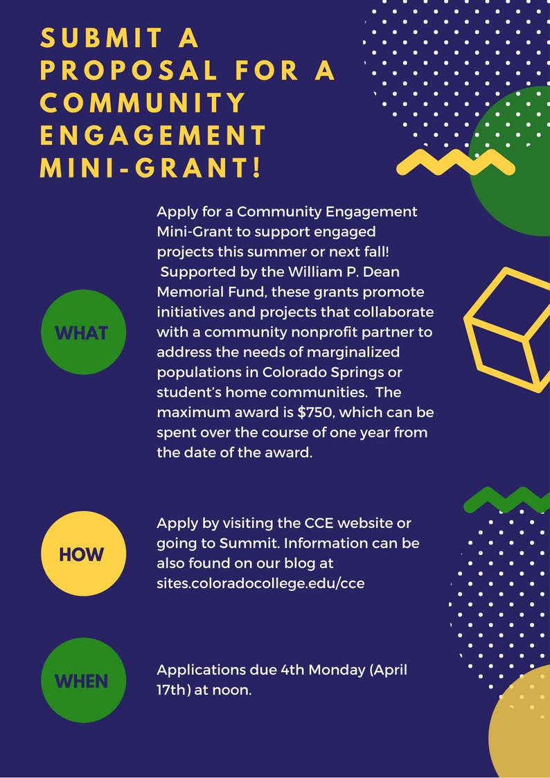 Submit a Proposal for a Community Engagement Mini-Grants