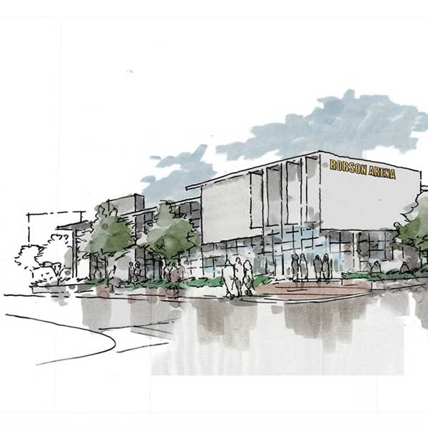 rendering of the Edward J. Robson Arena