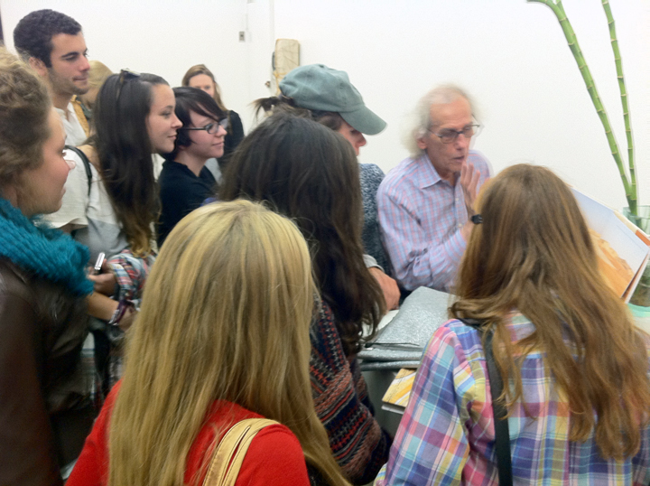 A visit to Christo's SoHo Studio.